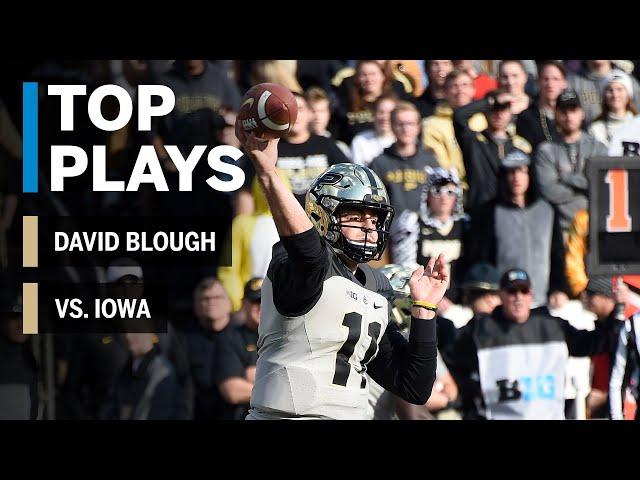 Top Plays: David Blough Highlights vs. Iowa Hawkeyes | Big Ten Football