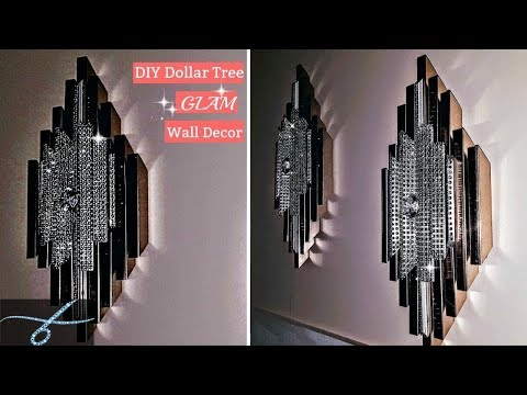 DIY Dollar Tree Glam Wall Decor - DIY Room Decor-  Elegant simple and easy decor on a budget