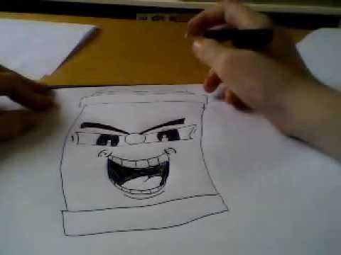 How To Draw A Easy Graffiti Character Youtube