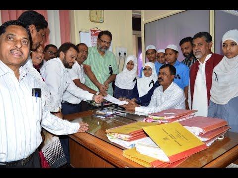 Memorandum on Muslim Reservation given to Divisional Commissioner of Aurangabad