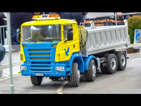 R/C trucks and machines in ACTION! Scania stuck!
