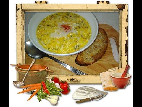 Сырного супа с креветками