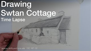 Drawing Swtan Cottage on Anglesey