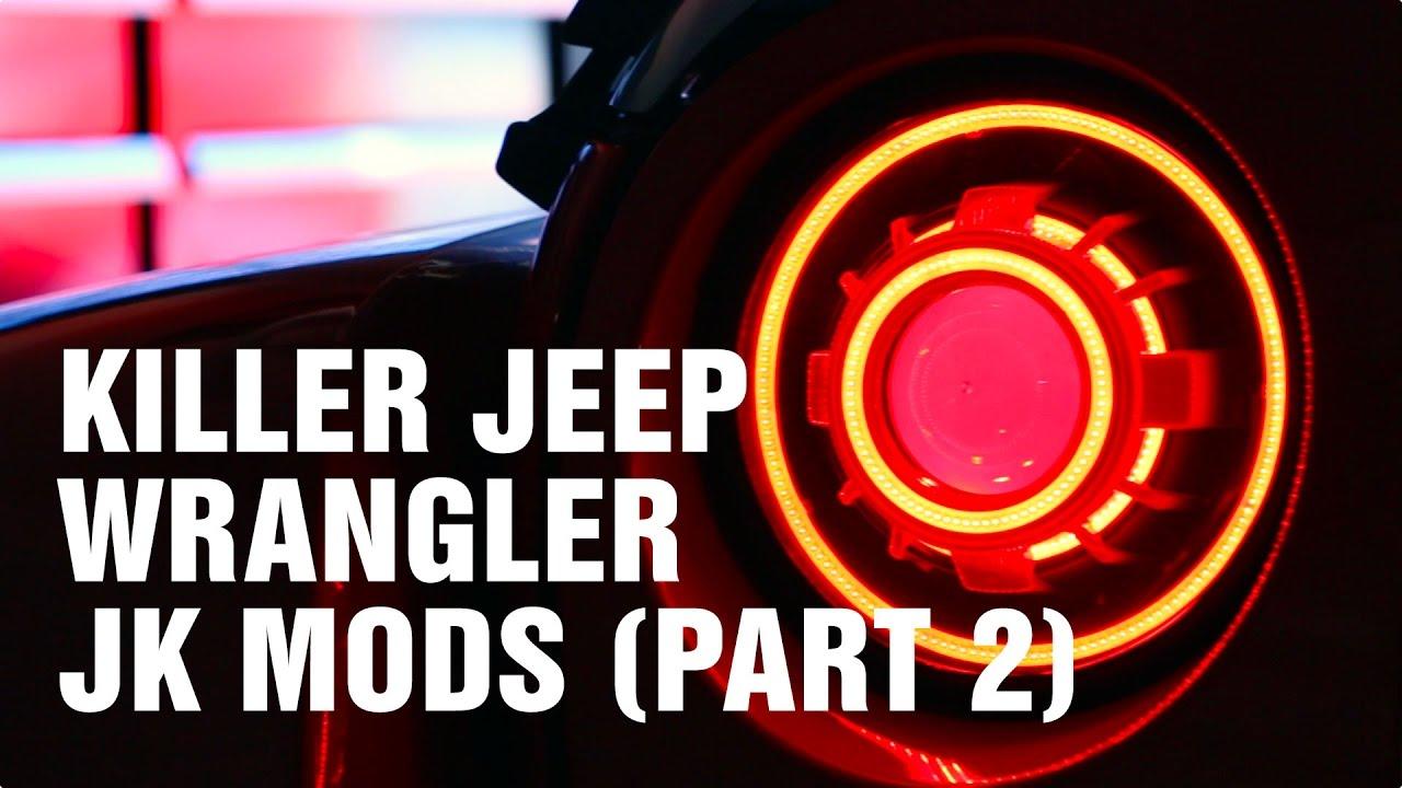 Jeep Wrangler Jk Hidprojectors Exhaust Tie Rod Drag Link Axles Diff Covers Motorz 89 Youtube