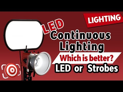 LED Continuous Lights vs Strobes for Photography - which is the best studio lighting solution?