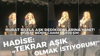 Hadise \Tekrar aşık olmak istiyorum.\  Murat Bozla aşk dedikodularına yanıt