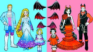 Paper Dolls Dress Up - Learn to Make Vampire Style Dresses for Barbie - Barbie Story & Crafts