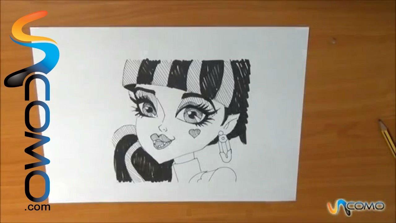 Aprende A Dibujar La Cara De Draculaura De Las Monster High