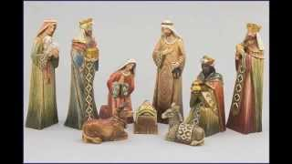 Hand Painted Old World Nativity Set - Chrm1006