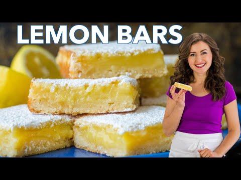 How To Make Classic LEMON BARS - Easy Recipe - Natashas Kitchen