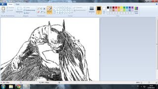 "How to draw Batman in the ""paint"" in 3:00 minutes."