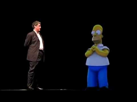 Homer Simpson Addresses a Live Audience