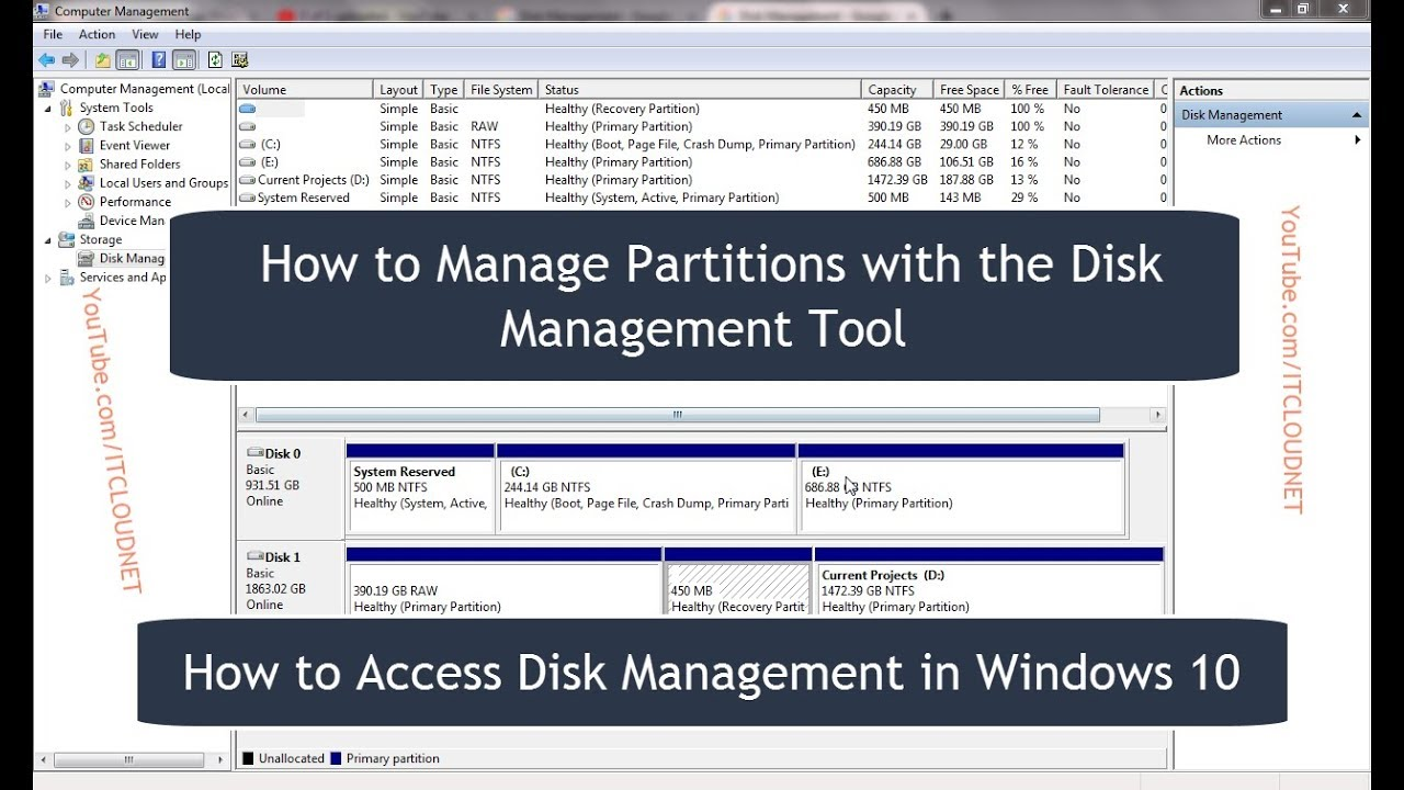 How To Access Disk Management In Windows 10 Manage Parions With The Tool