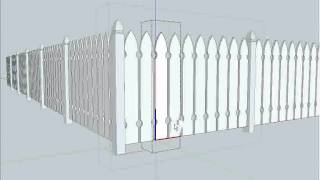 SketchUp Fencing Lessons Part C(Watch how the post and picket components are duplicated and modified for a completed fence design in this 3rd of 3 video clips., 2011-01-20T01:55:04.000Z)