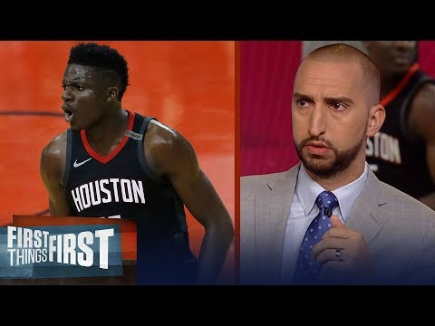 Nick and Cris on reports Clint Capela turned down contract from Houston | NBA | FIRST THINGS FIRST
