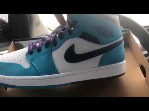 95955879f192 Review on Air Jordan 1 MiD blue Lagoon  Grand purple- white 🔥🔥🔥