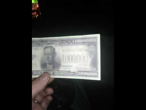 We found 1 million dollar gold certificate