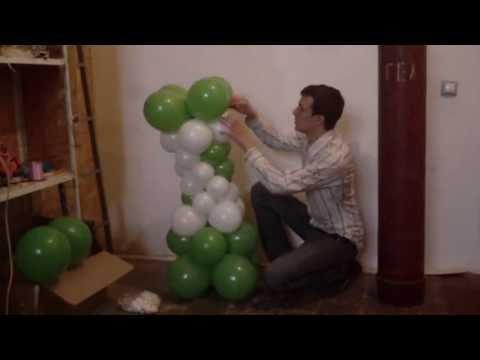Ваза из воздушных шаров. Как сделать вазу из воздушных шаров Легков.