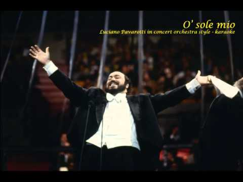 O sole mio - karaoke - Pavarotti in concert style