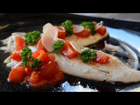 Sea Bream With Crazy Water Sauce – Fish In Acqua Pazza Recipe | Black Pepper Chef