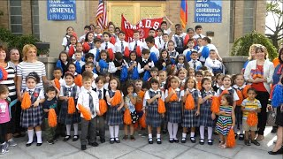 HOLY MARTYRS ARMENIAN DAY SCHOOL celebrates 25th anniversary of Armenia's independence