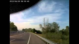 Sakarya da Araç Kameralarından Kaza Görüntüleri