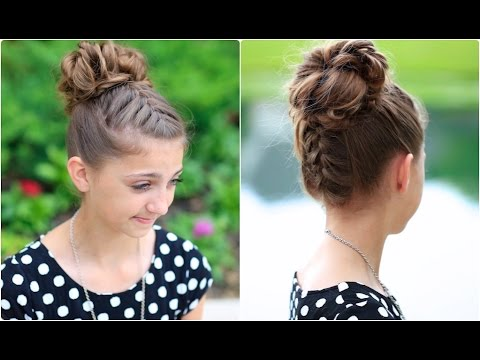 double french messy bun updo