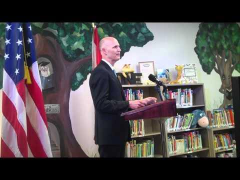 Rick Scott at Tampa charter school - WMNF News.MP4