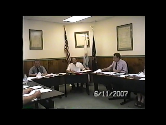 Champlain Village Board Meeting  6-11-07