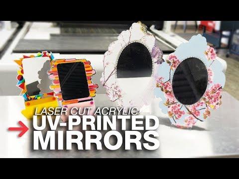 UV Printed Mirror Acrylic | Laser Cut Mirror Acrylic | Trotec