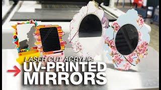 UV Printed Mirror Acrylic   Laser Cut Mirror Acrylic   Trotec