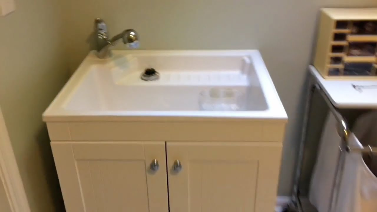 Exceptionnel Glacier Bay Laundry Sink Cabinet Review And Installation