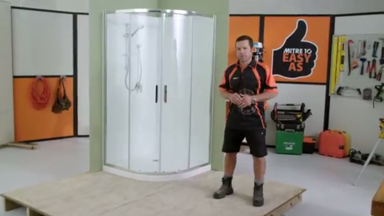 How to Install a Shower Enclosure | Mitre 10 Easy As - YouTube
