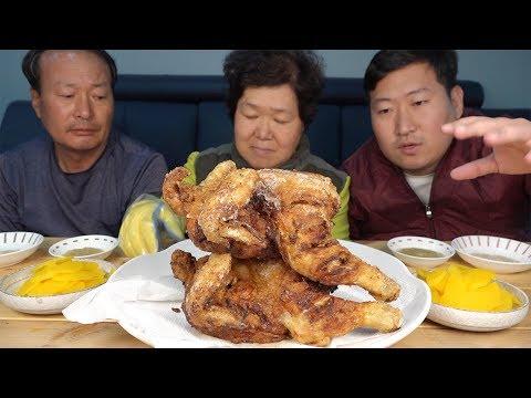 가마솥에 직접 튀긴 [[옛날 통닭(Traditional fried chicken)]] 요리&먹방!! – Mukbang eating show