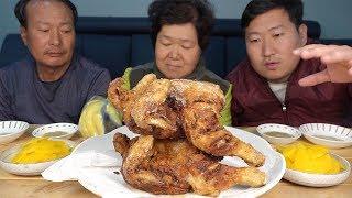 가마솥에 직접 튀긴 [[옛날 통닭(Traditional fried chicken)]] 요리&먹방!! - Mukbang eating show