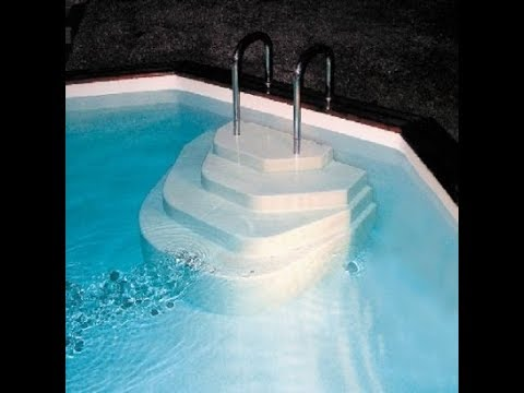 Escalier piscine accelo poser directement dans l 39 eau for Escalier pour piscine