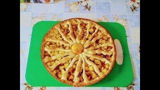 Выпечка. Испытание формы из Фикс прайса. - Песочный пирог с персиками.