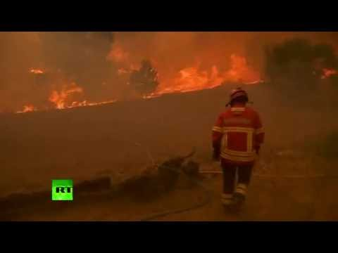 Three villages evacuated due to wildfire in Portugal