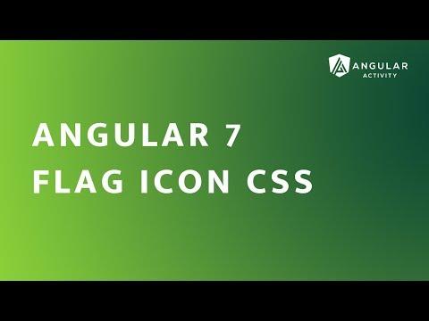 Angular 7 - Flag Icon CSS