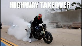 WE RAN FROM THE COPS! Street Racers Shut Down California Highways