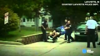 Officer pushes man in wheelchair, knocks him over