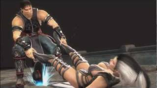 a ryona video showing Kung Lao use his 2nd fatality called razors e...