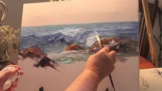 How to Paint: Ocean Wave Part 1-with Marge Kinney