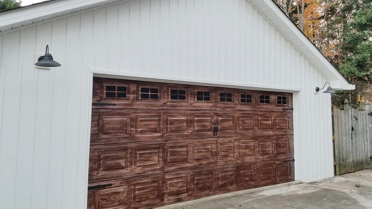 Faux Wood Garage Door You
