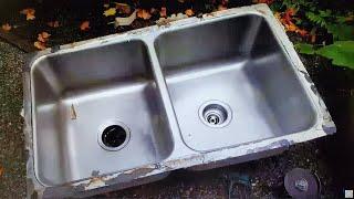 under mount sink repair installation ustanovka rakoviny