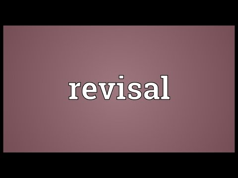 Header of revisal