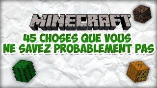 45 choses que vous ne savez probablement pas sur Minecraft ! | FR | HD