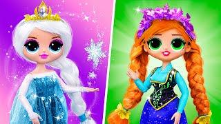 Elsa and Anna Hacks and Crafts / 11 LOL Surprise OMG DIYs