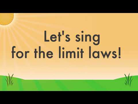 The Limit Laws Calculus Song