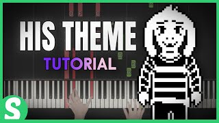 """How to play """"HIS THEME"""" from Undertale  (Synthesia) [Piano Video Tutorial] [HD]"""